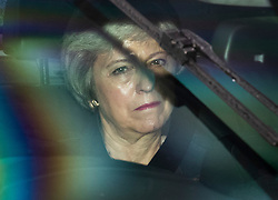 CAPTION CORRECTION © Licensed to London News Pictures. 21/10/2019. London, UK. Former Prime Minister Theresa May arrives at Parliament. Prime Minister Boris Johnson will attempt to secure a vote on his new EU withdrawal agreement this week. Photo credit: Peter Macdiarmid/LNP