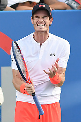 August 1, 2018 - Washington, District of Columbia, U.S - ANDY MURRAY reacts after a bad shot during his 2nd round match at the Citi Open at the Rock Creek Park Tennis Center in Washington, D.C. (Credit Image: © Kyle Gustafson/ZUMA Wire)