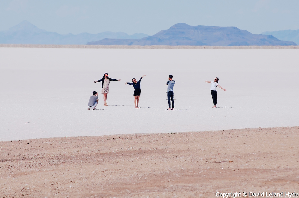Yoga-Like Poses, Rest Stop, Interstate 80, Bonneville Salt Flats Near Great Salt Lake, Silver Island Mountains, Utah, copyright 2016 David Leland Hyde.