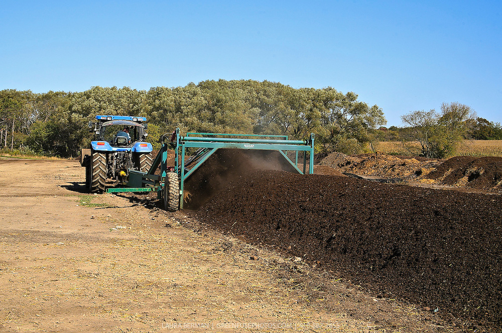 Large scale, farm composting.