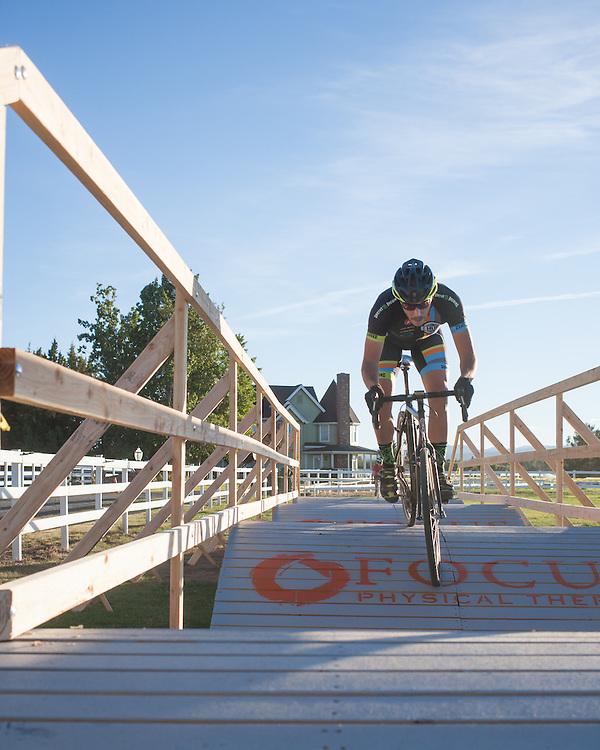 Jon Conway (Hub Cyclery) fears no pump track.  © Brian Nelson