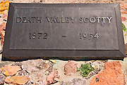 Grave of Walter Scott (Death Valley Scotty), Scottys Castle, Death Valley National Park. California