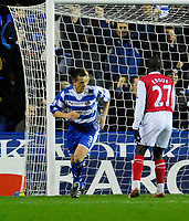 Photo: Leigh Quinnell/Sportsbeat Images.<br /> Reading v Arsenal. The FA Barclays Premiership. 12/11/2007. Nicky Shorey scores for Reading.