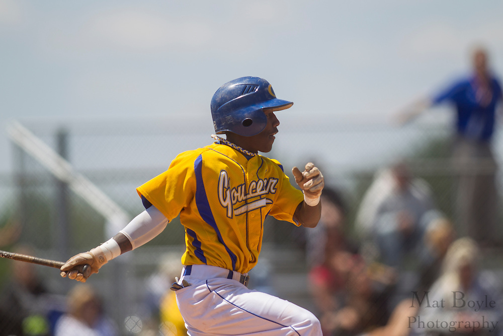 Gloucester County College Freshman Second Baseman Leron Lashley (1); Gloucester County College baseball hosts Northampton Community College in the second round of the NJCAA Region XIX tournament on Friday May 11, 2012 in Sewell, NJ. (photo / Mat Boyle)