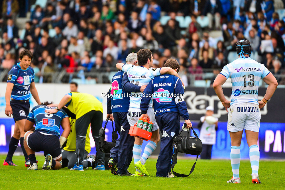 Yoan AUDRIN  - 11.04.2015 - Racing Metro / Montpellier  - 22eme journee de Top 14 <br />