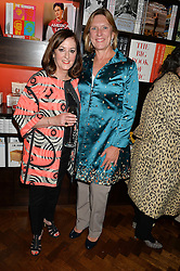 Left to right, VIVIENNE BECKER and JOANNA HARDY at a party to celebrate the publication of Cartier's Panthere book at Maison Assouline, Picadilly, London on 7th September 2015