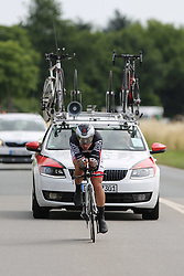 26.06.2015, Einhausen, GER, Deutsche Strassen Meisterschaften, im Bild Kersten Thiele (rad-net Rose Team) // during the German Road Championships at Einhausen, Germany on 2015/06/26. EXPA Pictures © 2015, PhotoCredit: EXPA/ Eibner-Pressefoto/ Bermel<br /> <br /> *****ATTENTION - OUT of GER*****