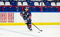 2020-01-22   Kallinge, Sweden: Krif hockey (79) Olicer Celec during the game between Krif hockey and Halmstad Hammers at Soft Center Arena (Photo by: Jonathan Persson   Swe Press Photo)<br /> <br /> Keywords: kallinge, Ishockey, Icehockey, hockeyettan, allettan södra, soft center arena, krif hockey, halmstad hammers (Match code: krhh200122)