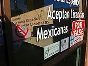 08 NOVEMBER 2011 - PHOENIX, AZ: A closed insurance business on E Indian School Rd east of 7th Street in Phoenix, AZ.  PHOTO BY JACK KURTZ