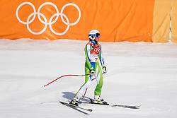 PYEONGCHANG-GUN, SOUTH KOREA - FEBRUARY 21: Marusa Ferk of Slovenia reacts during the Ladies' Downhill on day 12 of the PyeongChang 2018 Winter Olympic Games at Jeongseon Alpine Centre on February 21, 2018 in Pyeongchang-gun, South Korea. Photo by Ronald Hoogendoorn / Sportida