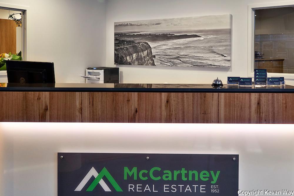 18439bw_'Jan Juc sunrise'<br /> reception McCartney Real Estate Torquay VIC<br /> 215 x 70cm stretched canvas