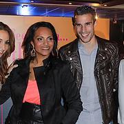 NLD/Rotterdam/20120516 - Verjaardag en boekpresentatie Magali Gorre, Robin van Persie en partner Bouchra van Persie, Magali Gorre en partner Dean
