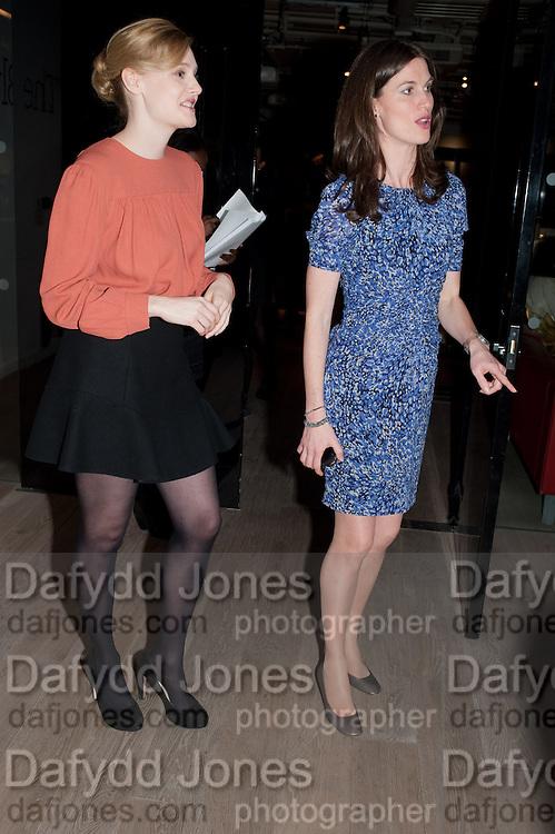 ROMOLA GARAI; RACHEL MILLWARD- BIRDS EYE VIEW INTERNATIONAL WOMEN'S DAY  RECEPTION, BFI Southbank. London. 8 March 2012.