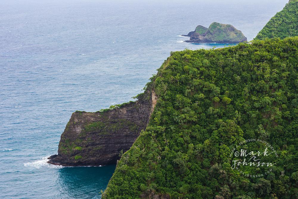 Honokane Nui Valley & coast, Big Island, Hawaii