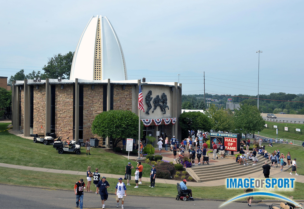 Aug 8, 2010; Canton, OH, USA; General view of the Pro Football Hall of Fame. Photo by Image of Sport