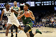 Manny Camper (3) drives to the basket against Dontarius James (12) of Xavier during an NCAA college basketball game, Friday, Nov. 8, 2019, at the Cintas Center in Cincinnati, OH. Xavier defeated Siena 81-63. (Jason Whitman/Image of Sport)