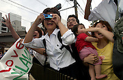 Girls scream out Beckham's name almost in unison as Japanese football fans line up to greet the  English soccer team's arrival in Niigata City, Japan. June 2002..©David Dare Parker/AsiaWorks Photography