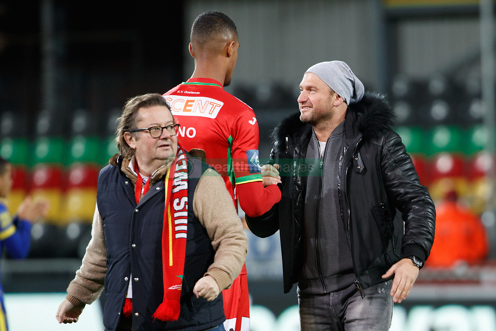 November 28, 2017 - Oostende, BELGIUM - Wout Bru and Oostende's chairman Marc Coucke pictured ahead of a Croky Cup 1/8 final game between KV Oostende and STVV, in Oostende, Tuesday 28 November 2017. BELGA PHOTO KURT DESPLENTER (Credit Image: © Kurt Desplenter/Belga via ZUMA Press)
