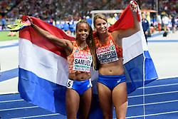 Jamile Samuel brons en Dafne Schippers zilver op de 200m bij het EK atletiek in Berlijn op 11-8-2018