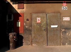 CZECH REPUBLIC NEDVEZI APR09 - Entrance door of a joiner's workshop, Hartmanice, Vysocina, Czech Republic...jre/Photo by Jiri Rezac..© Jiri Rezac 2009