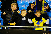 Solihull Moors fans before the The FA Cup match between Solihull Moors and Rotherham United at the Automated Technology Group Stadium, Solihull, United Kingdom on 2 December 2019.