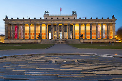 Night view of Altes Museum in Lustgarten in Mitte, Berlin, Germany