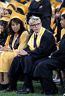 Antioch High School valedictorian Myron Child VI sits among his classmates during graduation on Friday, June 8, 2012. (Photo by Kevin Bartram)
