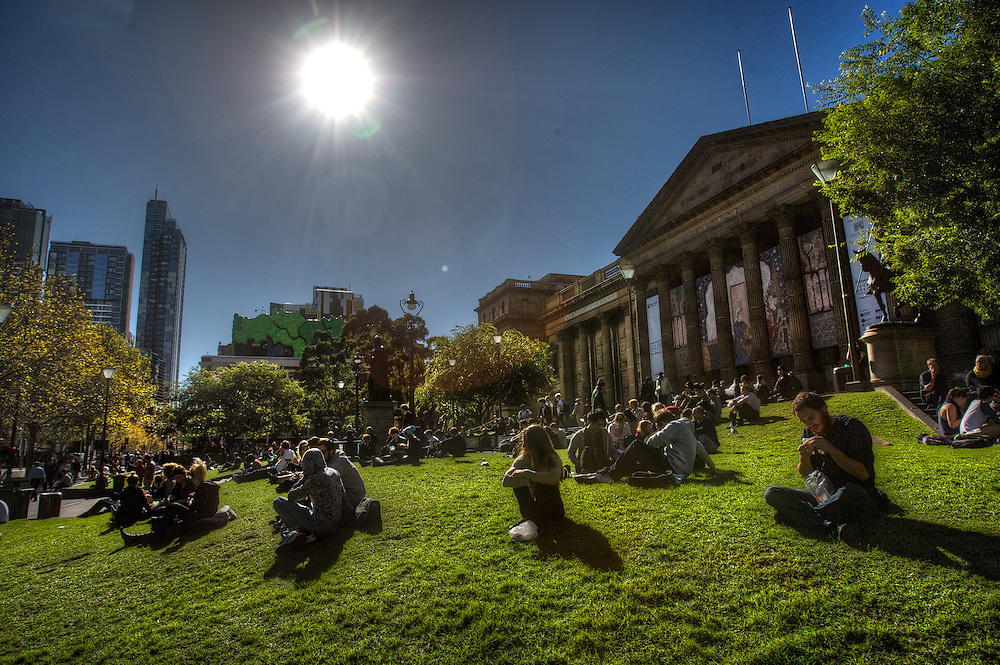 Sunny Melbourne locations, front of the State Library. Pic By Craig Sillitoe CSZ/The Sunday Age.09/05/2012 melbourne photographers, commercial photographers, industrial photographers, corporate photographer, architectural photographers, This photograph can be used for non commercial uses with attribution. Credit: Craig Sillitoe Photography / http://www.csillitoe.com<br />