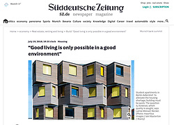 Suddeutsche Zeitung, Germany; Modern architecture in Berlin