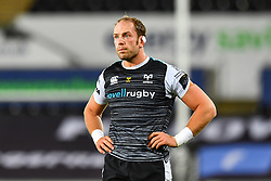 Alun Wyn Jones of Ospreys<br /> <br /> Photographer Craig Thomas/Replay Images<br /> <br /> Guinness PRO14 Round 4 - Ospreys v Benetton Treviso - Saturday 22nd September 2018 - Liberty Stadium - Swansea<br /> <br /> World Copyright © Replay Images . All rights reserved. info@replayimages.co.uk - http://replayimages.co.uk