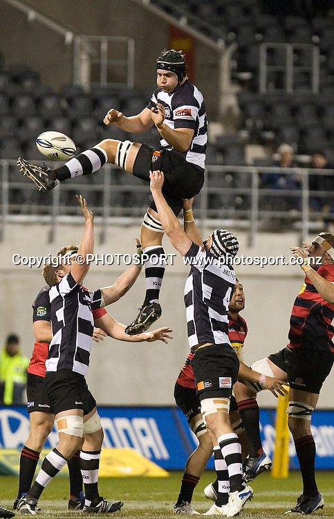 Hawkes Bay's Ross Kennedy wins a lineout. ITM Cup. Canterbury v Wellington at AMI Stadium, Christchurch. Friday 30 July 2010. Photo: Joseph Johnson/PHOTOSPORT