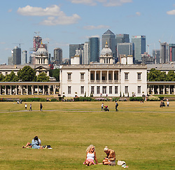 © Licensed to London News Pictures. 22/06/2017. <br /> GREENWICH, UK.<br /> Queens House.<br /> Hot sunny weather day today in Greenwich Park,London as people look forward to a mini heatwave all next week.<br /> (Verbal permission given to photograph)<br /> Photo credit: Grant Falvey/LNP