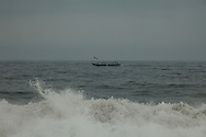 Fishing Boat seen from a beach near Abidjan, Ivory Coast. Photo James Miranda/4SEE NO SALES IN PORTUGAL