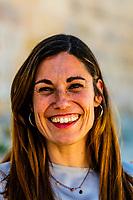 A happy Spanish woman, Loja, Granada Province, Andalusia, Spain.