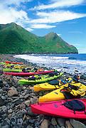 Pelekunu Valley, Molokai, Hawaii, USA<br />