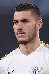 February 21, 2019 - Naples, Naples, Italy - Mirlind Kryeziu of FC Zurich during the UEFA Europa League Round of 32 Second Leg match between SSC Napoli and FC Zurich at Stadio San Paolo Naples Italy on 21 February 2019. (Credit Image: © Franco Romano/NurPhoto via ZUMA Press)