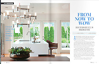 Feature of a contemporary styled home in Victoria, BC, for Boulevard Magazine February, 2015