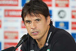 CARDIFF, WALES - Thursday, October 10, 2013: Wales' manager Chris Coleman during a press conference at the St. David's Hotel ahead of the 2014 FIFA World Cup Brazil Qualifying Group A match against Macedonia. (Pic by David Rawcliffe/Propaganda)