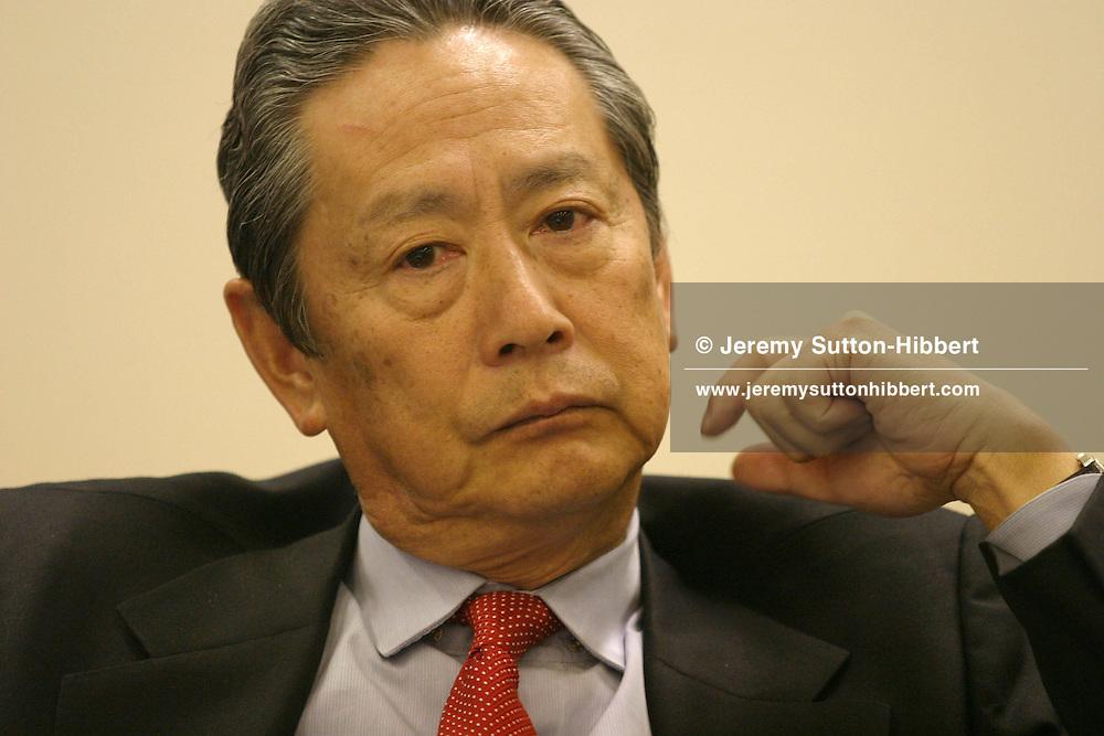 Nobuyuki Idei, President of Sony Corporation, in his boardroom..