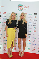 LIVERPOOL, ENGLAND - Thursday, May 12, 2016: Liverpool Ladies' Alex Greenwood and Ashley Hodson arrive on the red carpet for the Liverpool FC Players' Awards Dinner 2016 at the Liverpool Arena. (Pic by David Rawcliffe/Propaganda)