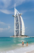 Jumeirah, Burj Al Arab, the World's most luxurious hotel.