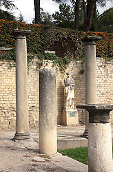 Statue of Sabine in the Roman ruins of Puymin in Vaison-la-Romaine, Ventoux, Provence, France.