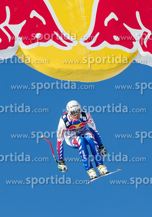 24.01.2013, Streif, Kitzbuehel, AUT, FIS Weltcup Ski Alpin, Abfahrt, Herren, 3. Training, im Bild Johan Clarey (FRA) // Johan Clarey of France in action during 3th practice of mens Downhill of the FIS Ski Alpine World Cup at the Streif course, Kitzbuehel, Austria on 2013/01/24. EXPA Pictures © 2013, PhotoCredit: EXPA/ Johann Groder
