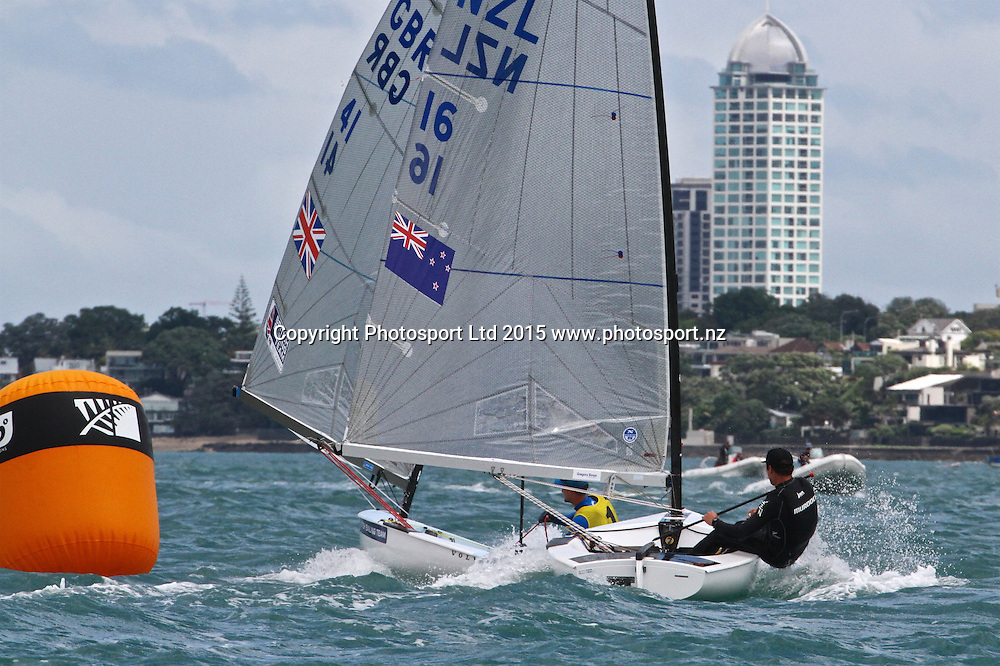 Andrew Murdoch (NZL chases series leader Giles Scott in Race 9  Finn Gold Cup Takapuna