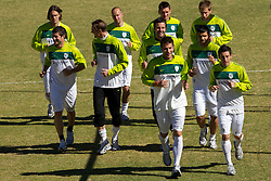 Players  of Slovenia during a training session at  Hyde Park High School Stadium on June 14, 2010 in Johannesburg, South Africa.  (Photo by Vid Ponikvar / Sportida)