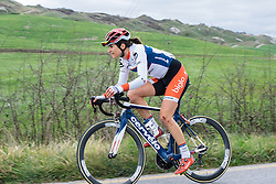 She's been down but she's not out. Joëlle Numainville chases back - 2016 Strade Bianche - Elite Women, a 121km road race from Siena to Piazza del Campo on March 5, 2016 in Tuscany, Italy.