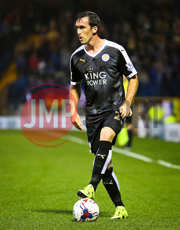 Christian Fuchs of Leicester City - Mandatory byline: Matt McNulty/JMP - 07966386802 - 25/08/2015 - FOOTBALL - Gigg Lane -Bury,England - Bury v Leicester City - Capital One Cup - Second Round