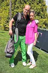 CARLO CARELLO and SOPHIA WINNINGTON at the Leuka Mini Masters Golf at Dukes Meadows, Chiswick, London on 15th July 2011.