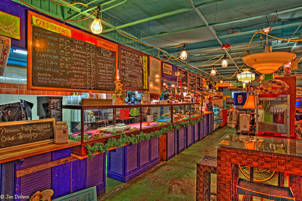 """If you are on Anna Maria Island a """"must visit"""" destination is Ginny and Jane E's at the Old IGA. Serving great coffee, sandwiches and deserts this internet cafe also sells everything else. Check the menu in the image. Everything  shown in the series is for sale ( well almost everything)."""