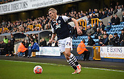 Steve Morrison looks for options during the The FA Cup match between Millwall and Flyde at The Den, London, England on 7 November 2015. Photo by Michael Hulf.